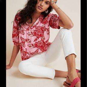 Anthropologie Inge Embroidered blouse NWOT M